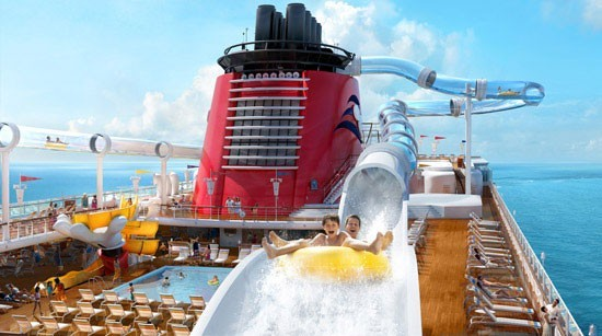 Water Slide on a cruise ship