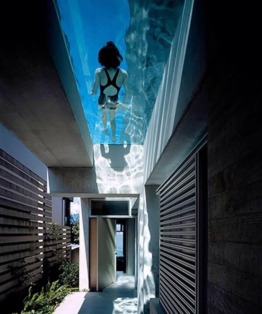 swimming pool on a roof